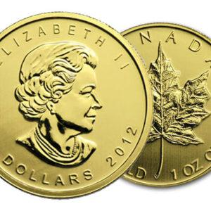 gold coin canadian maple leaf
